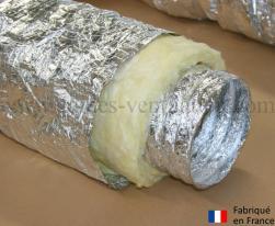 Gaine aluminium isolation phonique et thermique 25mm (Thermaflex phonique) Ø 160 mm - L : 10 m