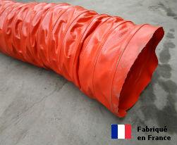 Gaine ventilation semi lourde rouge (Airflex N) Ø 203 mm - L : 6 m