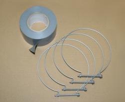 Kit de fixation PVC Ø 130 mm