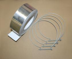 Kit de fixation aluminium Ø 130 mm