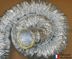 Gaine aluminium isolation phonique et thermique 25mm (Thermaflex phonique)